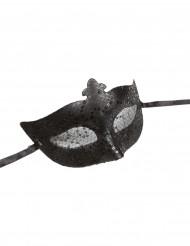 Venezianische Halbmaske schwarz für Erwachsene