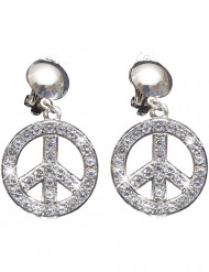 Peace & Love Ohrringe für Erwachsene