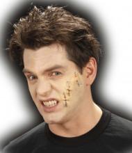 Falsche Halloween Wunde mit Nadeln für Erwachsene