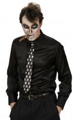 Krawatte mit Skelettmotiv für Erwachsene