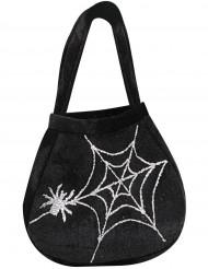 Halloween Tasche Spinne und Netz für Erwachsene