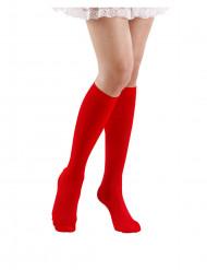 Rote Kniestrümpfe für Damen