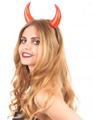 Rote Halloween-Hörner für Erwachsene