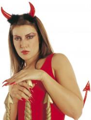 Rote Teufelshörner für Erwachsene Halloween
