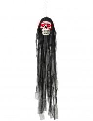Hängender Schädel mit glühenden Augen Halloween Dekoration