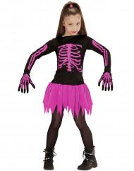 Halloween rosa Skelett Kostüm für Mädchen