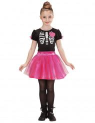 Kinderkostüm Halloween Skelett für Mädchen