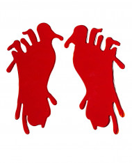 Blutige Fußabdrücke Halloween