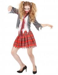 Schulmädchen Halloween Zombiekostüm