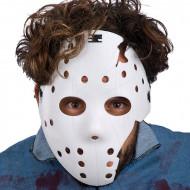 Weiße Hockey-Maske für Erwachsene - Halloween