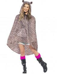 Leoparden-Poncho für Erwachsene