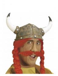Gallier Schnurrbart rot für Erwachsene