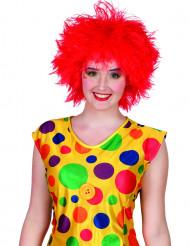 Clown Perücke knallrot für Erwachsene