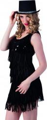Schwarzer Zylinder Hut mit Glitzersteinchen für Damen