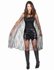 Umhang Spinnennetz für Damen Halloween