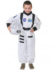 Weißes Astronaut Kostüm für Kinder