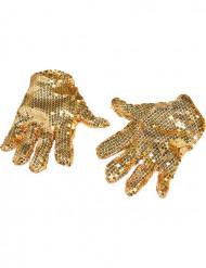 Glitzerhandschuhe gold für Erwachsene