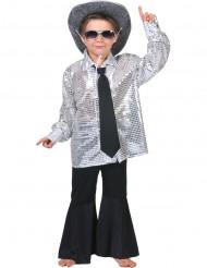 Silbernes Disco-Hemd für Jungen