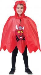 Halloween Teufel Poncho für Kinder