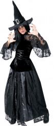 Halloween Schwarzes und gezacktes Hexe Kostüm für Damen