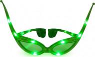 Brille grün-leuchtender Schmetterling