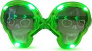 Grüne Leucht-Brille Totenkopf
