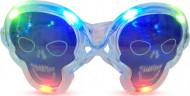 Transparente Leucht-Brille Totenkopf