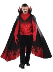 Teufel der Nacht Kostüm für Herren Halloween schwarz-rot
