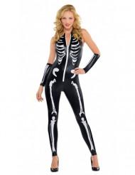 Halloween sexy Skelett Kostüm für Damen