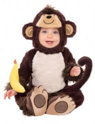 Weiches Affenkostüm für Babys mit Mütze und Banane