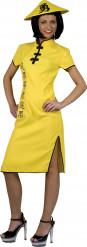 Gelbes Chinesin Kostüm für Damen