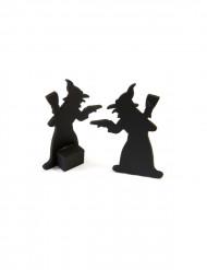Hexen-Dekoration für Halloween 2 Stück schwarz