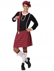 Schotten-Kostüm für Herren weiss-rot-schwarz