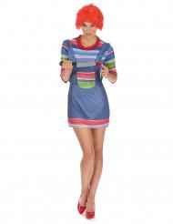 Mörder Halloween Puppen Kostüm für Damen