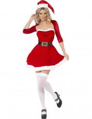 Kurzes Weihnachtsfrau-Kleid für Damen