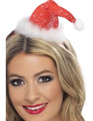Mini Glitzer Hut Weihnachtsfrau