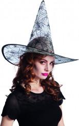 Transparenter Spinnennetz Halloween Hut für Erwachsene