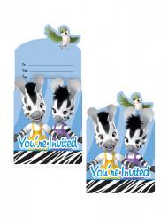 8 Einladungskarten - Zeo das Zebra™