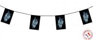 Girlande Geister-Totenkopf für Halloween