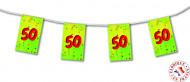 Wimpel-Girlande Zahl 50