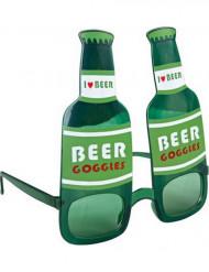 Grüne Bierflaschen-Brille für Erwachsene