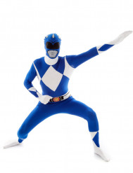 Morphsuit-Kostüm Power Rangers in Blau für Erwachsene