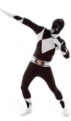 Schwarzes Morphsuits™ Power Rangers™ Kostüm für Erwachsene