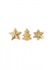 Weihnachten Tischdeko-Set gold 12-teilig
