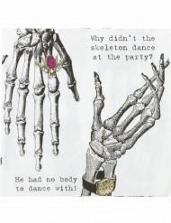 Servietten mit Skelettmuster