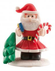Kuchen oder Dessert Deko Weihnachtsmann