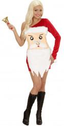 Weihnachtsmann-Kopf-Kostüm für Damen