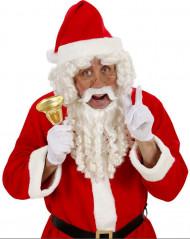 Perücke und Bart Set Deluxe Weihnachtsmann für Erwachsene