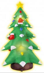 Aufblasbarer und beleuchteter Weihnachtsbaum