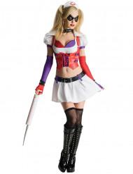 Harley Quinn Krankenschwester Kostüm für Damen aus Batman Arkham City™